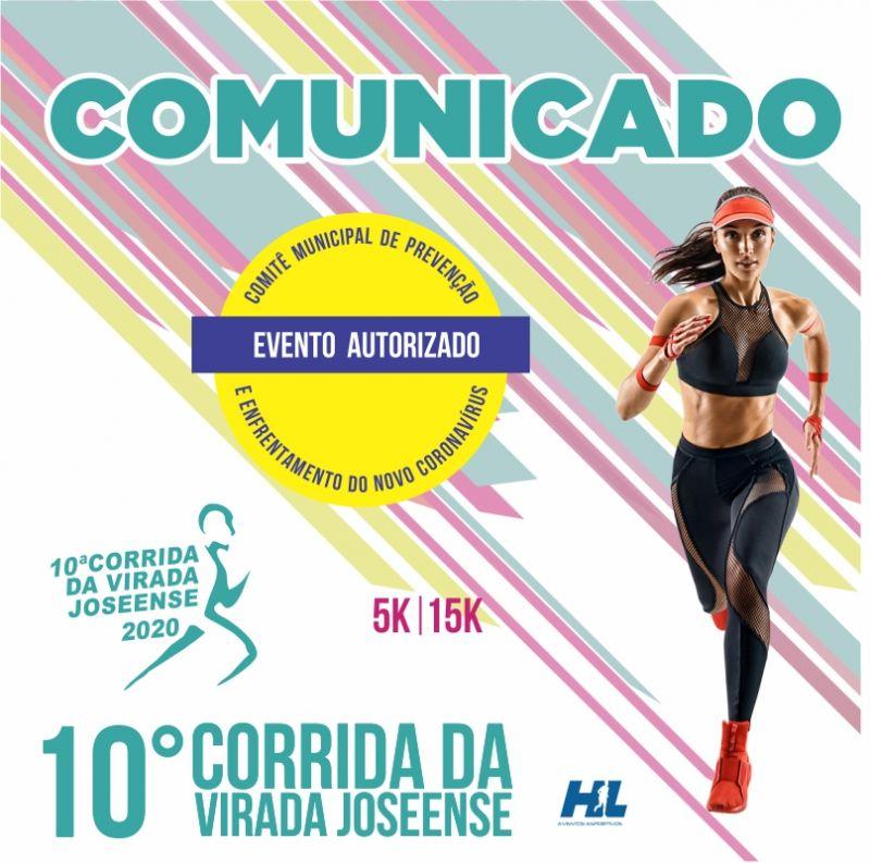 COMUNICADO: 10ª CORRIDA DA VIRADA JOSEENSE 2020